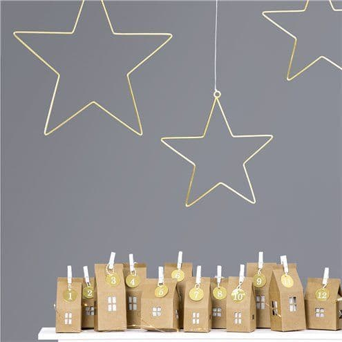 Decoration: Star Metal Hanging Decoration x2pk