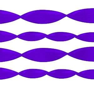 Decoration:  Streamers Crepe Streamer Purple - 81ft 24m