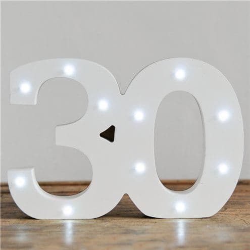 Decoration: Up In Lights Milestone Numbers - 30