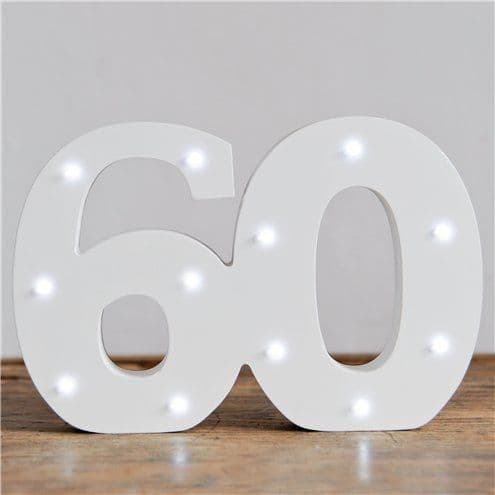 Decoration: Up In Lights Milestone Numbers - 60