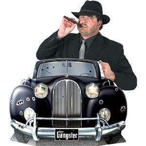 Decorations: 1920s Party Gangster Car Photo Prop Size: 3ft 1''x 25''