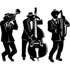 Decorations: 1920s Party Jazz Trio Silhouettes x3pk