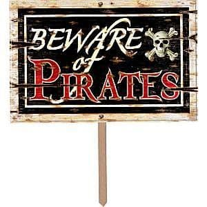 Decorations: Beware of Pirates 3D Sign (each)