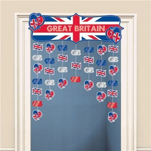 Decorations: Great Britain Door Curtain - 1.2m