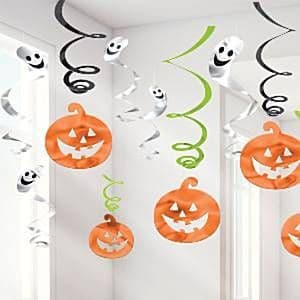 Decorations: Halloween Family Friendly Swirls - 60cm (12pk)