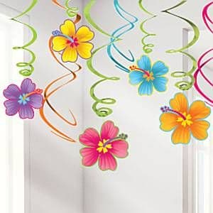 Decorations: Large Hibiscus Flower Cutout (each)
