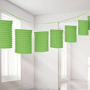 Decorations: Lime Green Lantern Garland - 3.65m (each)