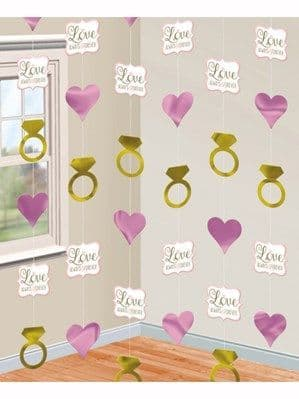 Decorations: Love Always & Forever Hanging String Decorations 6pk