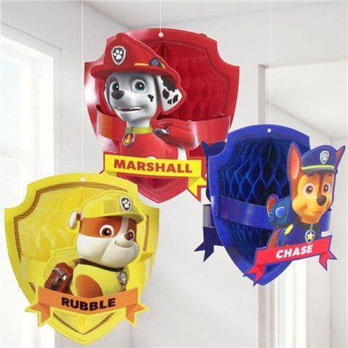 Decorations: Paw Patrol Honeycomb Hanging Decorations
