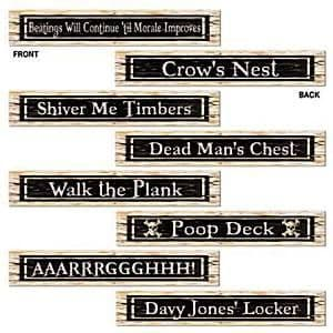 Decorations: Pirate Street Sign Cutouts (4pk)