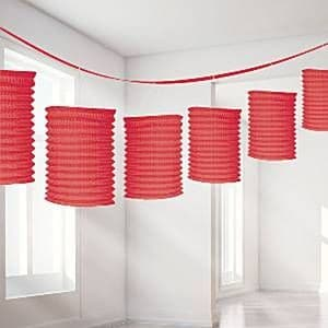 Decorations: Red Lantern Garland - 3.65m (each)