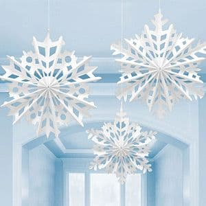 Decorations: Snowflake Hanging Decorations - 30cm to 40cm