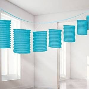 Decorations: Turquoise Lantern Garland - 3.65m (each)
