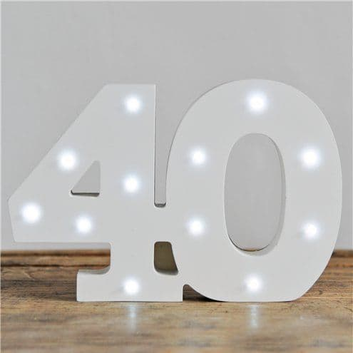 Decorations: Up In Lights Milestone Numbers - 40