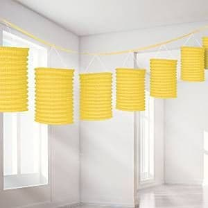 Decorations: Yellow Lantern Garland - 3.65m (each)