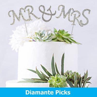 Diamante Cake Picks