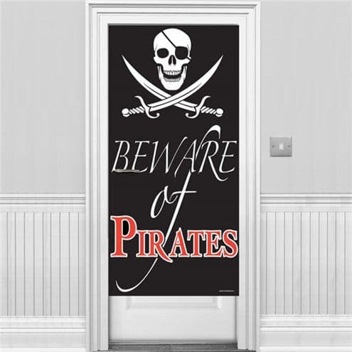 Door banner: Beware of Pirates Door Banner - 1.5m