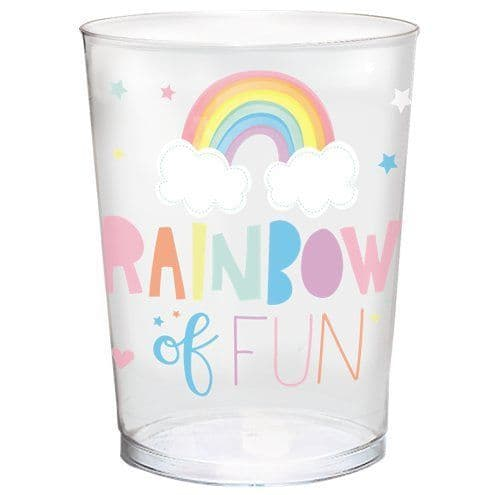 Favour Cups: Magical Rainbow Plastic Gift Cup - 473ml (Discount the more you buy)