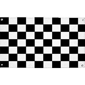 Flag: Cars Party 5ft Chequered Cloth Flag x1