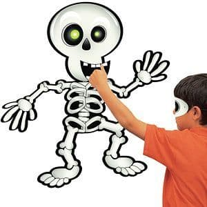 Game: Halloween Game - Pin the Smile on the Skeleton