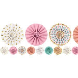 Garland: Pastel Mini Fan Paper Garland 12ft