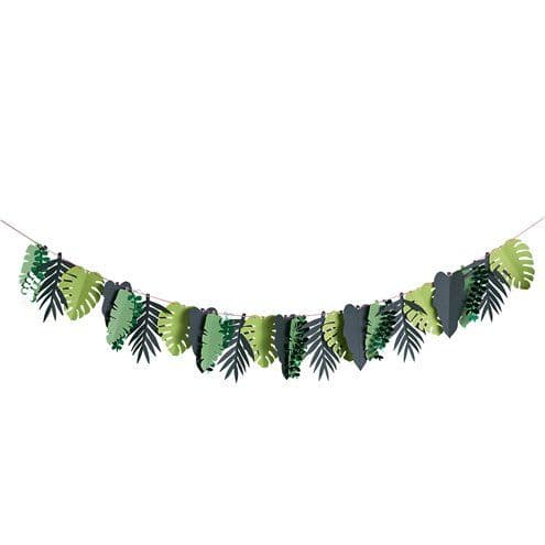 Garland: Tropical Leaf Paper Garland - 2m