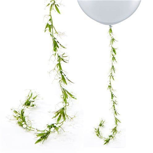 Garland: White Gypsophila Flower Garland - 1.8m
