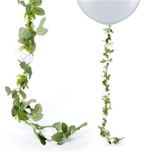 Garland: White Rose Garland - 1.75m