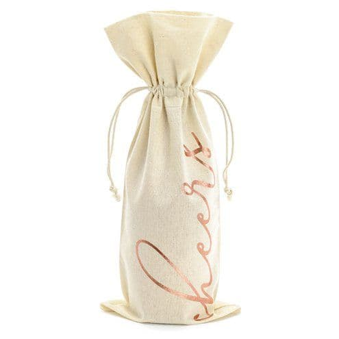 Gift Bags: Cheers Cotton Bottle Bags - 15.5cm x 36cm Each