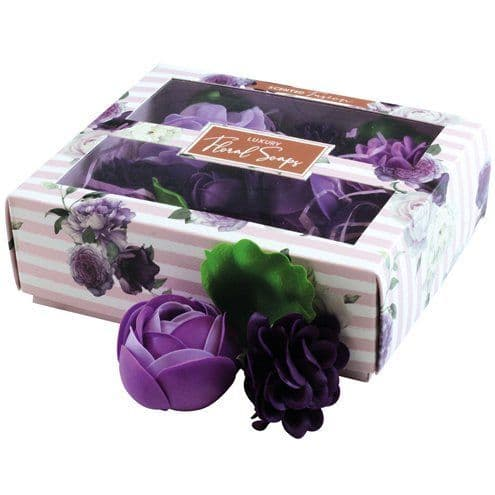 Gift: Luxury Boxed Scented Purple Floral Soaps