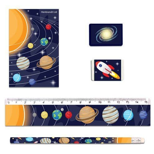 Gift: Space Stationary Set x5pc
