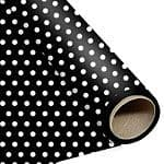 Gift Wrap: Decorative Dots Black Polka Dot Wrapping - 1.5m Roll