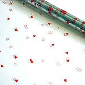 Gift Wrap: Red Heart Cellophane Gift Wrap 2.5m