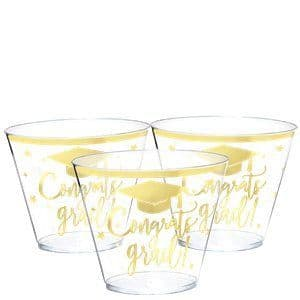 Glasses: Graduation Plastic Tumblers - 266ml x30pk