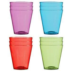 Glasses: Multi-coloured Plastic Shot Glasses - 57ml x40pk