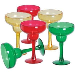 Glasses: Plastic Glasses Margarita Shot 42ml (6pk)
