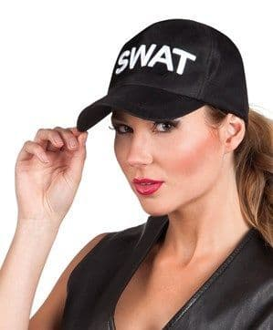 Hat: Adult Adjustable Black SWAT Cap