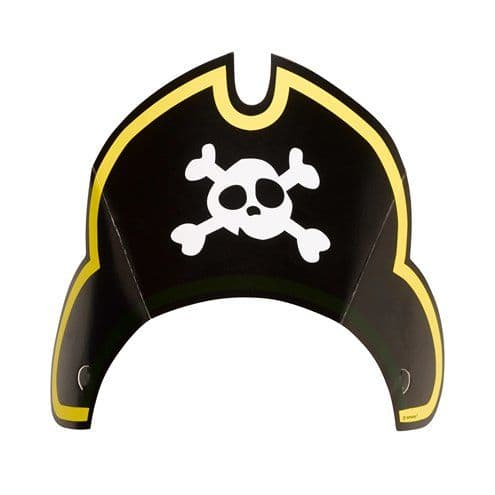 Hat: Captain Pirate Party Hats x8pk