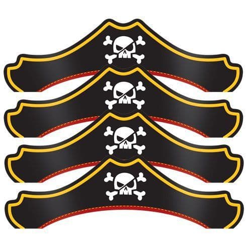 Hat: Pirate Treasure Pirate Party Hats x8pk