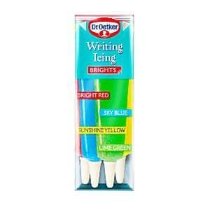 Icing: Writing Icing Brights - Dr Oetker (4pk)