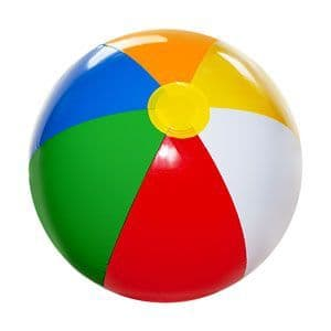 Inflatable: 26cm height Inflatable Beach Ball (each)