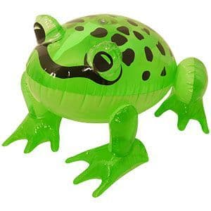 Inflatable: 39cm Inflatable Frog (each)