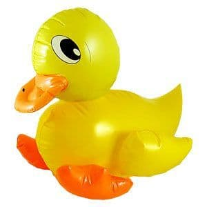 Inflatable: 42cm Yellow inflatable Duck