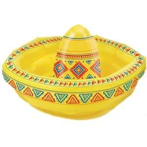 Inflatable: 46 cm Yellow Inflatable Sombrero