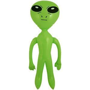 Inflatable: 64cm Green Inflatable Alien