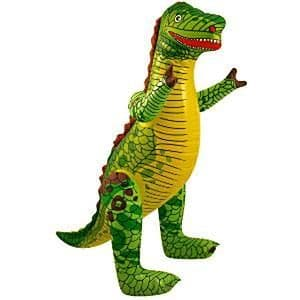 Inflatable: 76cm Green Inflatable Dinosaur (each)
