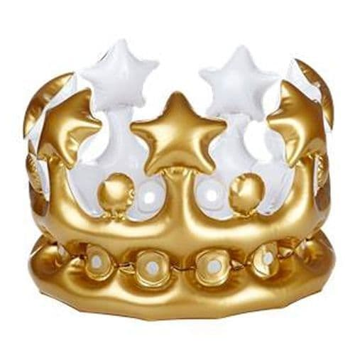 Inflatable: Adult's Inflatable Gold Crown