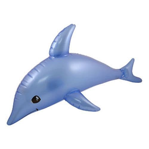 Inflatable: Blue Inflatable Dolphin 53cm