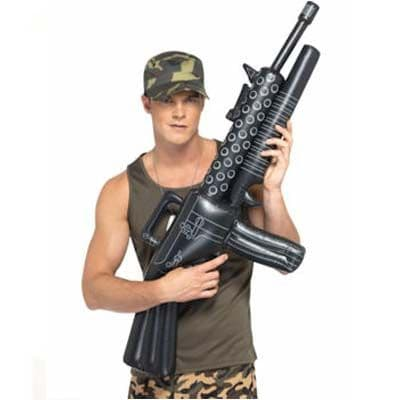 Inflatable: Deluxe Inflatable Machine Gun.