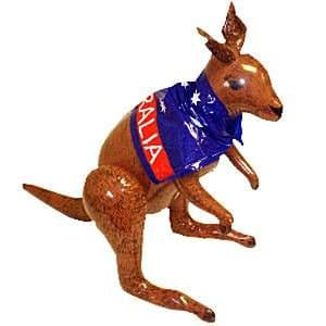Inflatable:  Kangaroo 70cm Inflatable - Australia Day